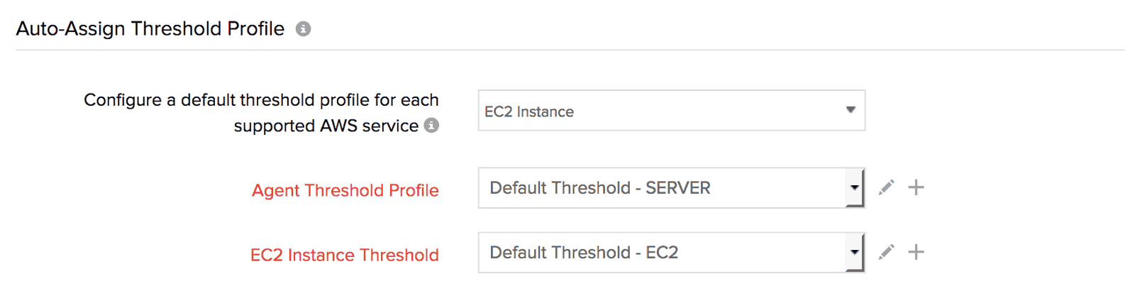 Configure a new default threshold profile