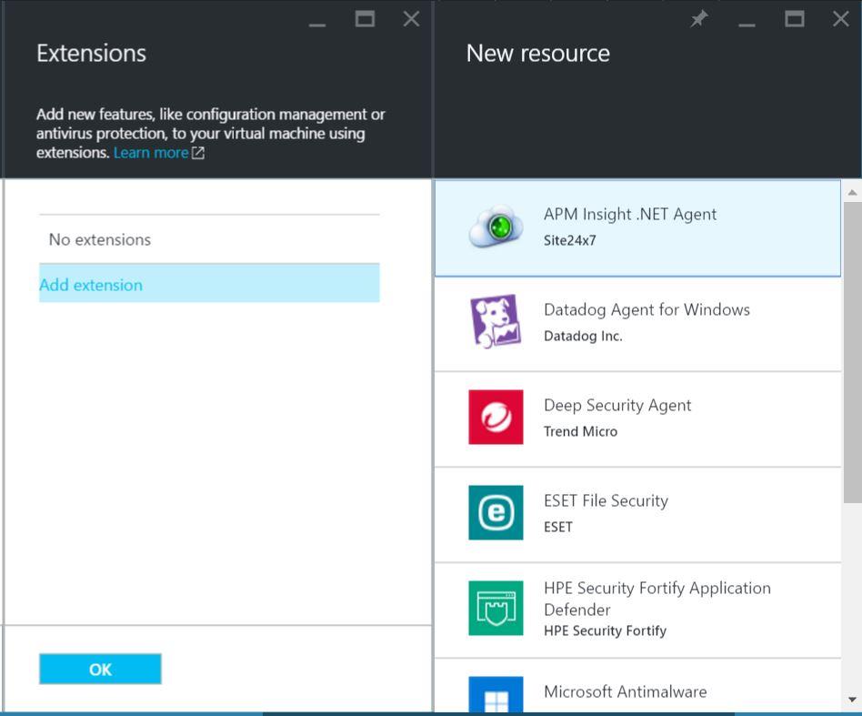 Azure VM Extension | Online Help Site24x7
