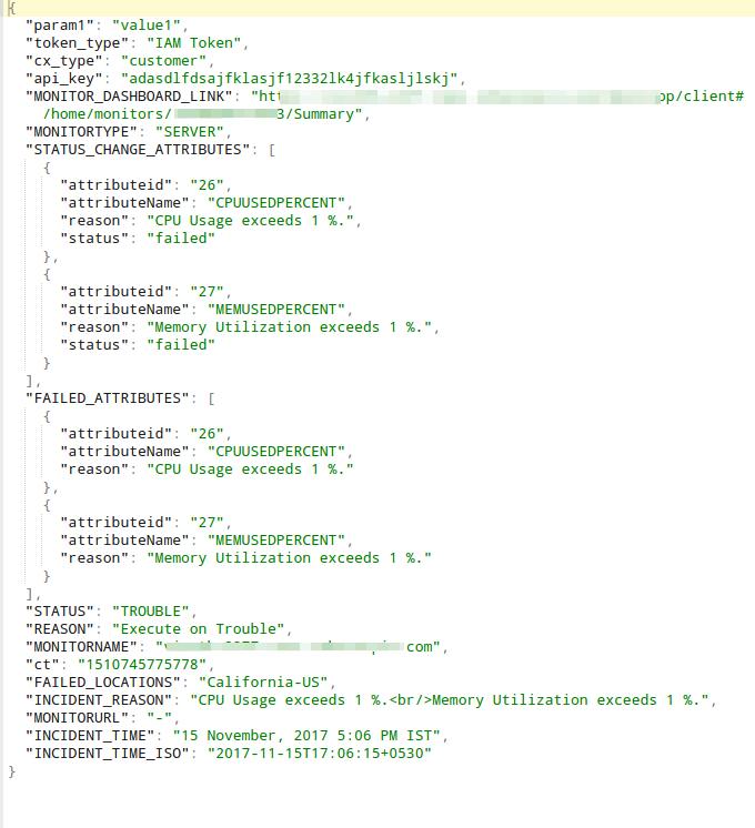 Invoke URL/REST API | Online Help Site24x7