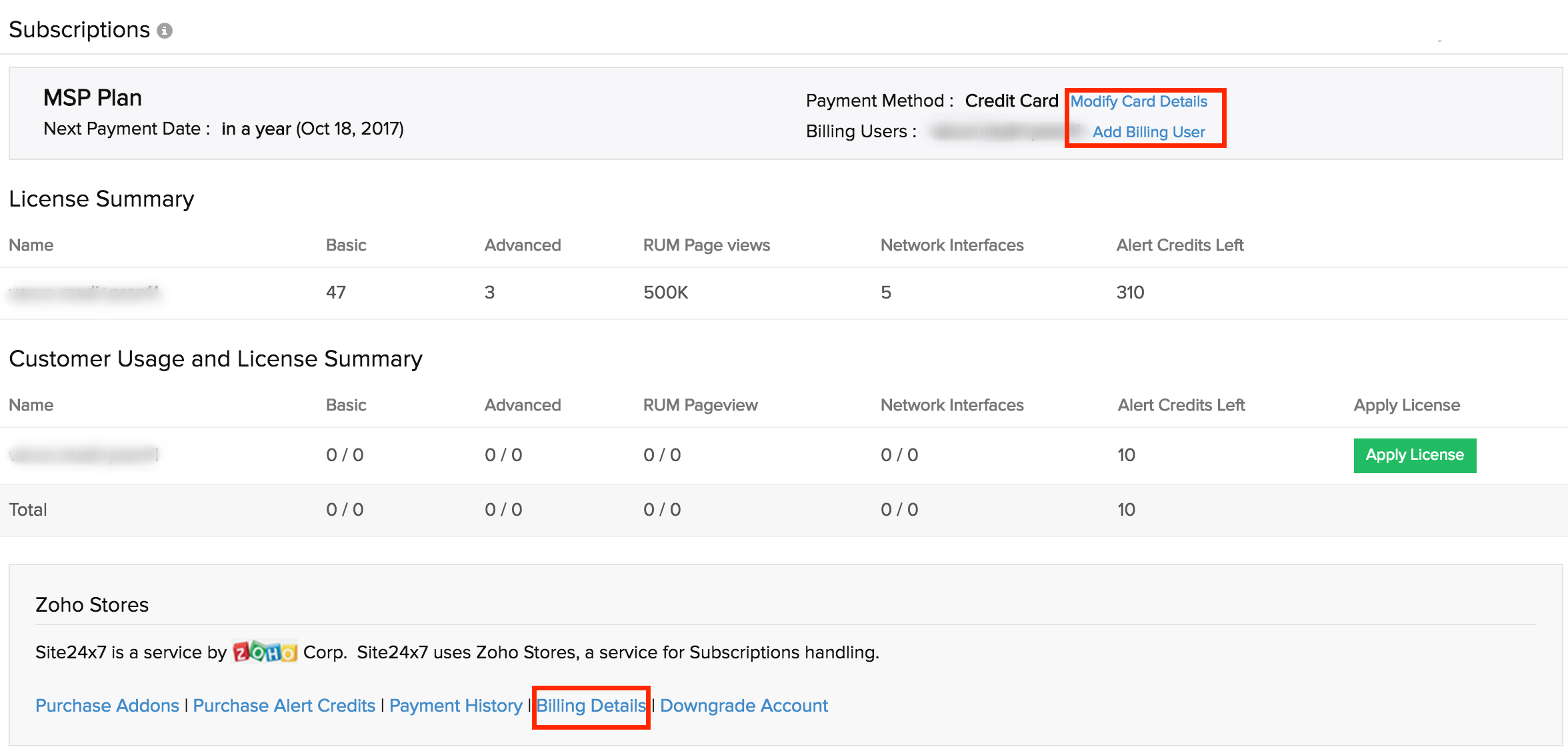 how to pay msp by credit card