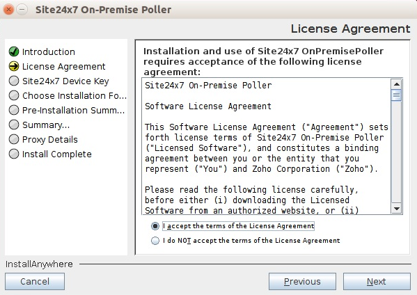 On-Premise Poller for Linux   Online Help Site24x7