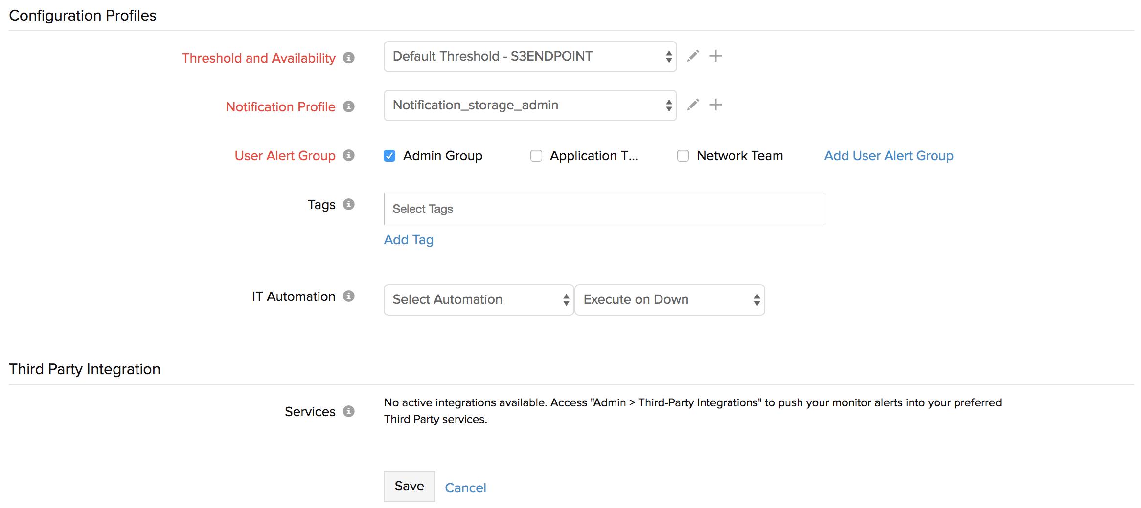 Amazon S3 Monitoring Integration | Site24x7 Documentation
