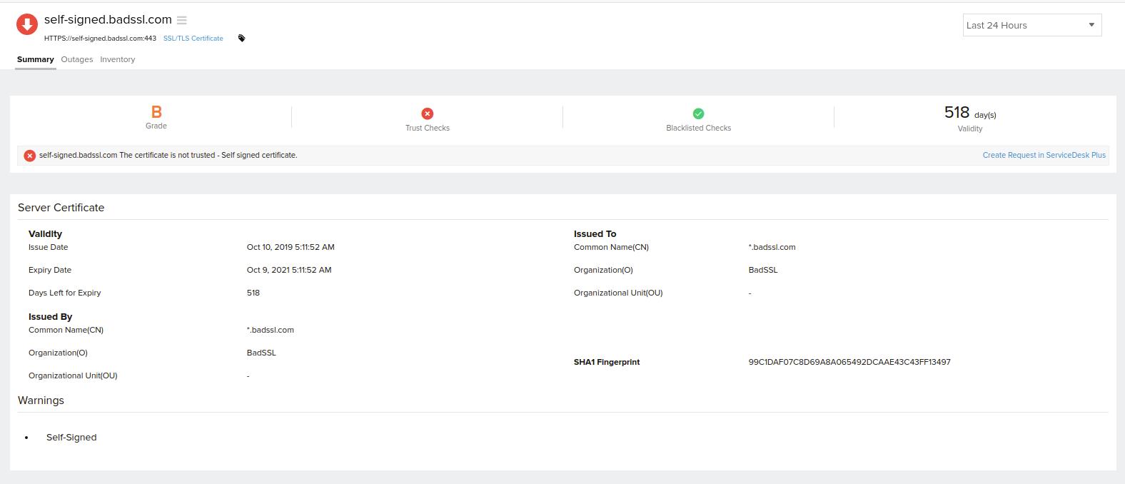Ssltls Certificate Online Help Site24x7