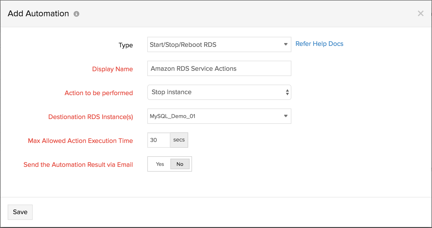 Amazon RDS Service Actions | Stop, Start and Reboot DB instances